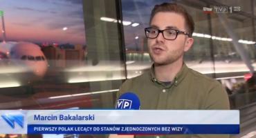 Pierwszy Polak bez wizy w USA to Marcin Bakalarski z Łowicza (VIDEO)