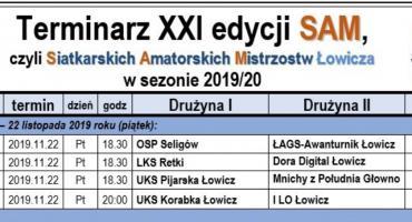 Plan gier 3. kolejki Siatkarskich Amatorskich Mistrzostw Łowicza