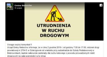 Droga między Dzierzgowem a Bobrownikami będzie nieprzejezdna