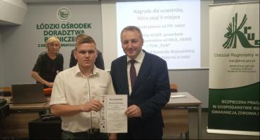 Uczeń ZSCKR w Zduńskiej Dąbrowie finalistą w wojewódzkim konkursie