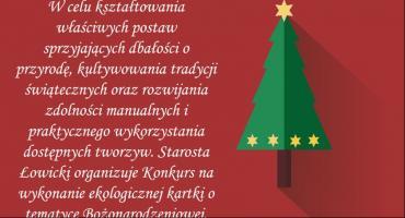 Starostwo Powiatowe ogłosiło konkurs na ekologiczną kartkę Bożonarodzeniową