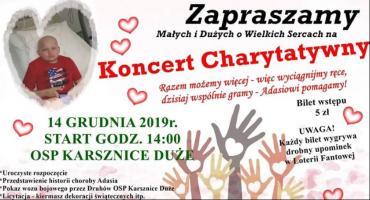 W sobotę koncert charytatywny dla Adasia Buczka
