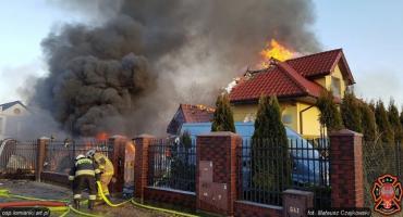 Tragiczny pożar w Łomiankach: relacja za akcji gaśniczej