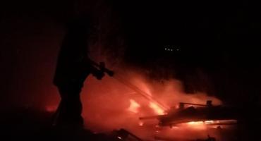 Pożar wysypiska w miejscowości Strojec