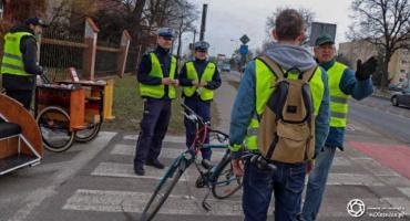 Akcja Komendy Powiatowej Policji w Oleśnicy oraz Grupy Rowerowej Bajk Stail skierowana głównie do ro