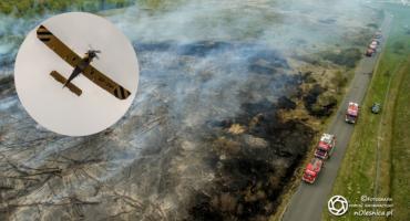 Kolejny pożar nieużytków przy trasie S8 - DRON - VIDEO
