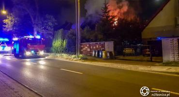 Pożar domu na Wiejskiej