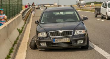 Zderzenie dwóch aut na trasie S8