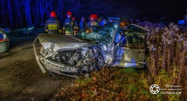 Wypadek na drodze z Bystrego do Krzeczyna