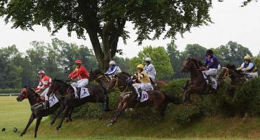 Tłumy na partynickim torze wyścigów konnych