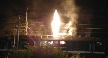 Pożar lokomotywy