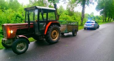 Pijany traktorzysta