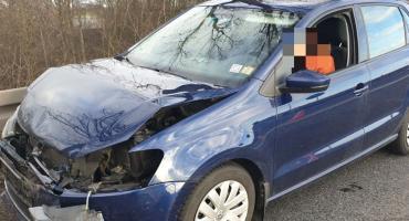 Zderzenie na łączniku autostrady A4 w Kostomłotach