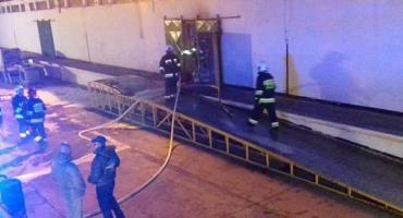 Pożar hali w Kątach Wrocławskich