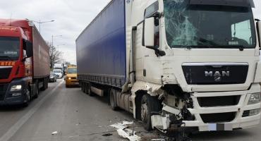 Zderzenie ciężarówek na A4