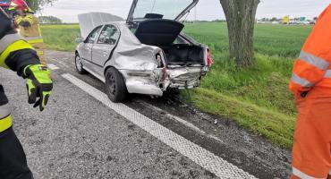 Zderzenie trzech pojazdów na krajowej piątce