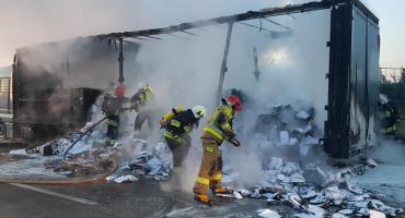 Pożar TiRa na autostradzie A4