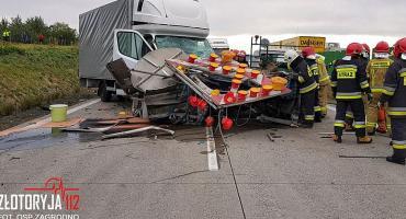 Naprawiali autostradę, kierowca ich nie widział
