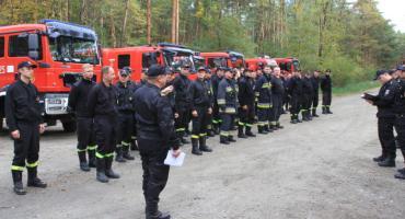 Duże strażackie ćwiczenia w okolicach Lubina