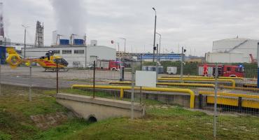 Wypadek na cukrowni w Strzelinie. Interweniował śmigłowiec LPR