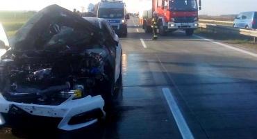 Autostrada A4 dwa wypadki na odcinku kilometra
