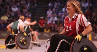 Spójrz ponad wózek i zobacz sportowca