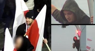 Policja poszukuje 31 osób, które odpalały race na Marszu Niepodległości [ZDJĘCIA]