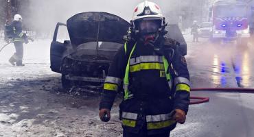 Pożar Land Rovera [ZDJĘCIA]
