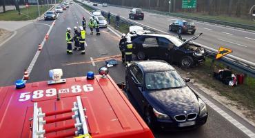 Znowu S7. Tym razem zderzenie 4 aut, jedna osoba ranna [ZDJĘCIA]