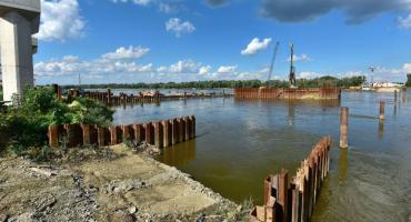 Budowa mostu Południowego z opóźnieniem. Termin lato 2020 nierealny