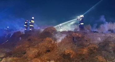 Pożar odpadów szklarniowych w Piotrowicach