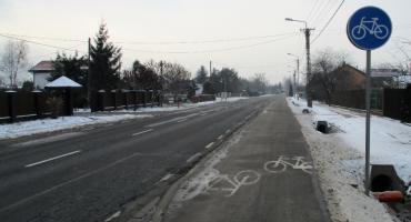Ścieżka rowerowa wzdłuż DW 721 na finiszu
