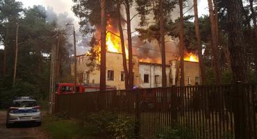 Pożar przy ul. Konopnickiej
