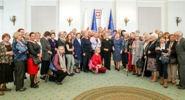 Sekcja Emerytów i Rencistów ZNP z Otwocka w Pałacu Prezydenckim