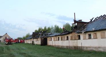 Pożar we wsi Plutycze