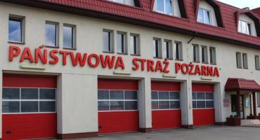 Pożar w miejscowości Krzywa
