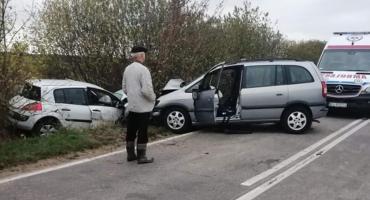 Olędzkie: Wypadek na trasie Brańsk – Łapy. Zablokowana DW 681