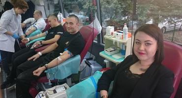 Strażacy i mieszkańcy powiatu oddali kilkanaście litrów krwi [zdjęcia]
