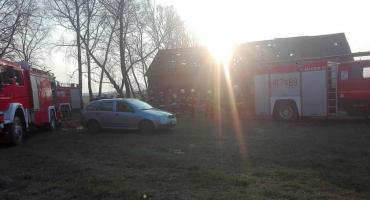 Pożar budynku w gm. Opinogóra Górna [zdjęcia]