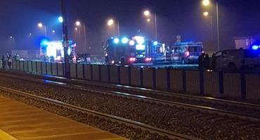 AKTUALIZACJA: Wypadek na torach w gm. Sońsk [zdjęcia]