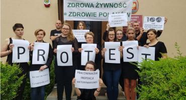 Czarny poniedziałek pracowników Inspekcji Weterynaryjnej. Protestują też w Ciechanowie