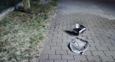 W środku nocy zapaliła się lampa uliczna [zdjęcia]