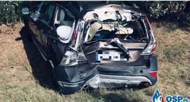 Ciężarówka i dwie osobówki zderzyły się pod Glinojeckiem [zdjęcia]