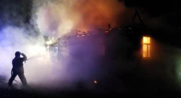 Nocny pożar domu w gminie Gołymin-Ośrodek [zdjęcia]