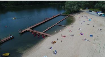Specjalne zejście do wody na kąpielisku Krubin?