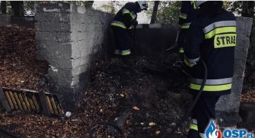 Pożar na terenie ośrodka dla bezdomnych w gm. Glinojeck [zdjęcia]