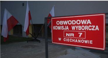 Frekwencja wyborcza: Najwyższa w Ciechanowie, najniższa - w gminie Glinojeck