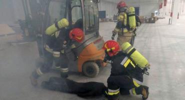 Działania strażaków w zakładzie produkcyjnym przy ul. Mleczarskiej