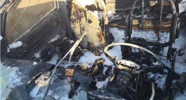 Pożar auta, zwłoki kobiety w rowie i zatrzymanie jej męża [zdjęcia]