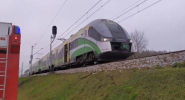 Wypadek z udziałem pociągu w gminie Sońsk [zdjęcia]